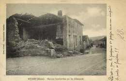 MARBOTTE (Meuse) Maisons Bombardée Par Les Allemands RV - France