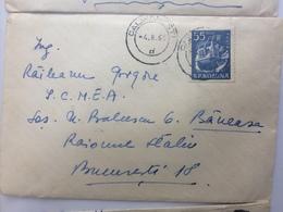 6 TRUCK STAMP ON COVER ROMANIA 1961 - 1948-.... Républiques