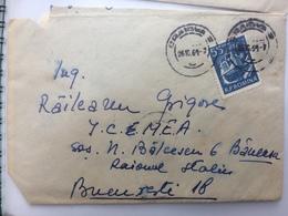 7 TRUCK STAMP ON COVER CRAIOVA ROMANIA 1961 - 1948-.... Républiques