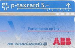 PTT P: KP-94/599 431L ABB Hochspannungstechnik. Mint - Schweiz