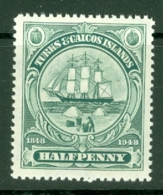 Turks & Caicos Is: 1948   Centenary Of Separation From Bahamas  SG210   ½d   MH - Turks And Caicos