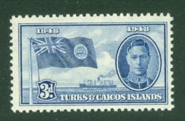 Turks & Caicos Is: 1948   Centenary Of Separation From Bahamas  SG212   3d   MH - Turks And Caicos