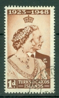Turks & Caicos Is: 1948   Royal Silver Wedding    SG208   1d   Used - Turks And Caicos