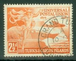 Turks & Caicos Is: 1949   U.P.U.    SG217   2½d   Used - Turks And Caicos