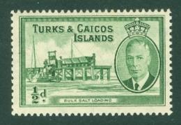 Turks & Caicos Is: 1950   KGVI   SG221    ½d      MH - Turks And Caicos