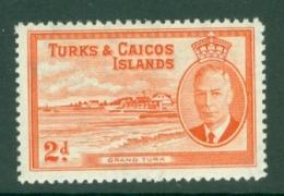 Turks & Caicos Is: 1950   KGVI   SG224    2d      MH - Turks And Caicos