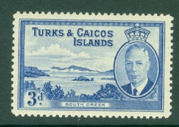 Turks & Caicos Is: 1950   KGVI   SG226    3d      MNH - Turks And Caicos