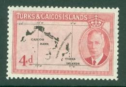 Turks & Caicos Is: 1950   KGVI   SG227    4d      MH - Turks And Caicos