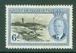 Turks & Caicos Is: 1950   KGVI   SG228    6d      MH - Turks And Caicos