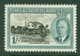 Turks & Caicos Is: 1950   KGVI   SG229    1/-      MH - Turks And Caicos