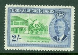 Turks & Caicos Is: 1950   KGVI   SG231    2/-      MH - Turks And Caicos