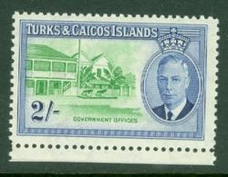 Turks & Caicos Is: 1950   KGVI   SG231    2/-      MNH - Turks And Caicos