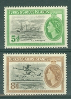 Turks & Caicos Is: 1955   Pictorials     MH - Turks And Caicos