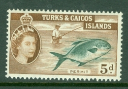 Turks & Caicos Is: 1957   QE II - Pictorial   SG243    5d      MH - Turks And Caicos