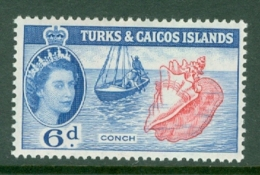 Turks & Caicos Is: 1957   QE II - Pictorial  SG244    6d      MH - Turks And Caicos