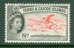 Turks & Caicos Is: 1957   QE II - Pictorial   SG245    8d      MH - Turks And Caicos