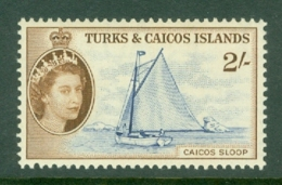 Turks & Caicos Is: 1957   QE II - Pictorial  SG248    2/-      MH - Turks And Caicos
