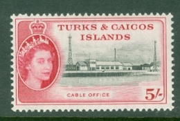 Turks & Caicos Is: 1957   QE II - Pictorial   SG249    5/-      MH - Turks And Caicos