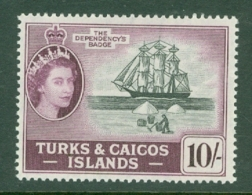 Turks & Caicos Is: 1957   QE II - Pictorial   SG250    10/-      MH - Turks And Caicos