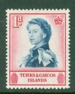 Turks & Caicos Is: 1957   QE II - Pictorial   SG237    1d      MNH - Turks And Caicos