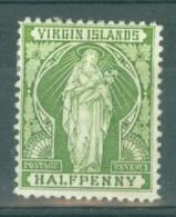 British Virgin Is: 1899   St Ursula   SG43    ½d       MH - Iles Vièrges Britanniques