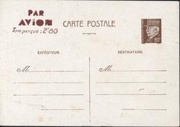 Entier Petain 0.8 Brun Storch A2 E6 Utilisé Maroc Et Algérie Par Avion Taxe Perçue 2.80 Neuf Cote 30 Euros - Cartes Postales Types Et TSC (avant 1995)