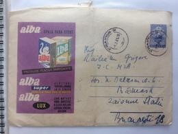 12 PARFUME BLEACH PRODUCT ALBA SUPER LUX SWAN STATIONARY COVER 1961 ROMANIA - 1948-.... Républiques