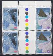 AAT 1996 Landscapes/Landforms 2 Gutter Pairs ** Mnh (42109) - Unused Stamps