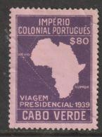 Cabo Verde  1939  Mi.nr. 254  Used - Cap Vert