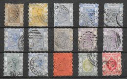 Hong Kong Classiques Lot De 15 Tp 1863-1921 O - Hong Kong (...-1997)