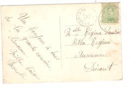 PR6363/ TP 137 S/CP Fantaisie C.Fortune Cuesmes 1919 V.Anseremme C.d'arrivée 10/7/1919 - Fortune Cancels (1919)