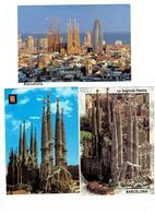 Lot 3 Cpm - Espagne - BARCELONA - Temple De La  Sagrada Familia - Travaux échafaudage -  Grue - Barcelona