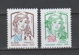 """FRANCE / 2018 / Y&T N° 5234/5235 ** : Ciappa Surchargées """"2013-2018"""" (les 2 Valeurs) - Gomme D'origine Intacte - France"""