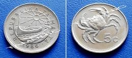 MALTA 5 Cents 1986 FRESH-WATER CRAB - Malta