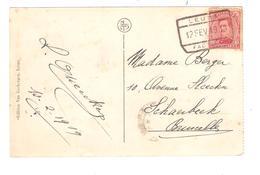 PR6364/ PT138 S/CP Leuze Couvent St.Jean De Dieu C.Fortune C.F.Leuze Factage 12/2/19 V.Schaerbeek - Fortune Cancels (1919)