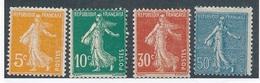 CP-74: FRANCE:  Lot Avec N°158/161** - 1906-38 Semeuse Camée