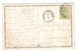PR6365/ TP 137 S/CP Fantaisie C.Fortune Càp Namur 1919 V.Doiceau Gastuche C.d'arrivée Grez-Doiceau 27/6/19 - Fortune Cancels (1919)