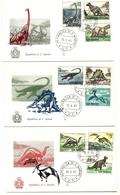 1965 - San Marino 690/98 Dinosauri - FDC, - Timbres