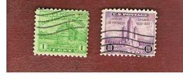 "STATI UNITI (U.S.A.) -  SG 727.728 -  1933  ""CENTENARY OF PROGRESS"" (COMPLET SET OF 2) -  USED° - Etats-Unis"