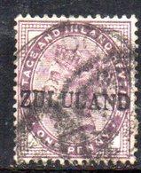 Y1217 - ZULULAND 1888 , Yvert N. 2 Usato - Sud Africa (...-1961)