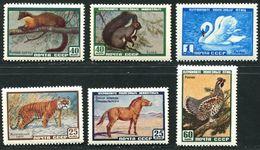Russia  1959  Mi 2242-43, 2275-76,2309-10  MNH** Birds And Animals - 1923-1991 USSR