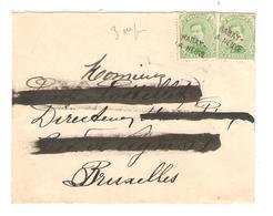 PR6366/ TP 137(2) S/L.griffe Habay La Neuve Qui Estampille Les TP Nom Destinataire Occulté - Postmark Collection