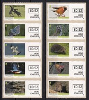 Isle Of Man 2019 Wildlife Fauna Birds Butterflies Rabbits Hedgehog Self-adhesive Set Of 10v MNH - Vlinders