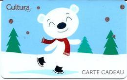 Carte Cadeau - Cultura - Ourson Noel  -  GIFT CARD /GESCHENKKARTE - Cartes Cadeaux