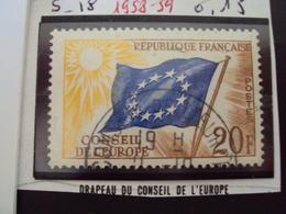 """à Partir De 1950 - Timbre Oblitéré N° 18    """"  SERVICE  20F    """"    0.15 - Service"""