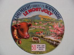 Etiquette Camembert - Le Mont Joly - Fromagerie Du Pont De Soulles - Normandie   A Voir ! - Fromage