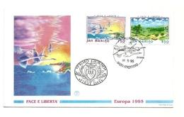 1995 - San Marino 1446/47 Europa - FDC - Europa-CEPT