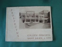 Prospectus Collège Episcopal Saint Julien à ATH (4 Scan) (voir Description Complète)(20,5 Cm/15,5 Cm) - Publicités