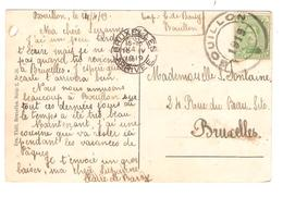 PR6367/ TP 137 S/CP Bouillon Le Château C.Fortune Bouillon 1919 V.BXL C.d'arrivée 15/5/1919 - Postmark Collection