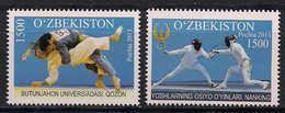 Uzbekistan. 2013 Sport. ( Judo. Fencing) Mi 1064-65 - Ouzbékistan